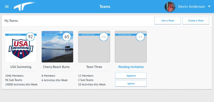 Teams - Landing Page - PENDING INVITE