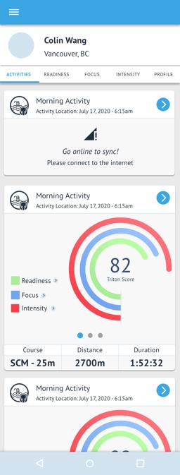Triton Score - Workout Offline Sync